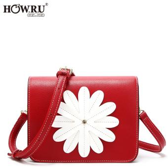 HOW.R.U 2017 New style handbag Cool Cute flowers messenger bag Stylish Korean-style portable wild small bag female