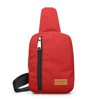 I female backpack New style chest pack (Red)