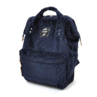 Harga 【Anello】 Authentic Japan Large Backpack - Polar Bear Alike Fur - Navy