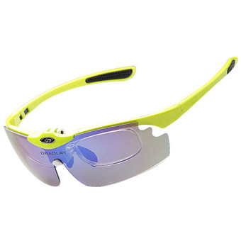 OBAOLAY Polarized Anti-UV UV 400 Protection Sports Cycling Glasses Sunglasses 5 Interchangable Lenses - Intl