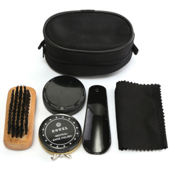 Harga 5 IN 1 Cleaning Shoe Shine Care Kit Polish Brush Set For Boots Shoes Sneakers