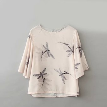 European and American DRAGONFLY shirt Cape