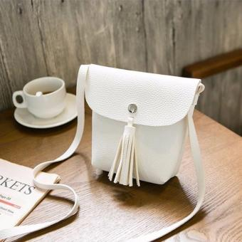 Harga Mini Tassel Sling Bag W/ Flap (White)