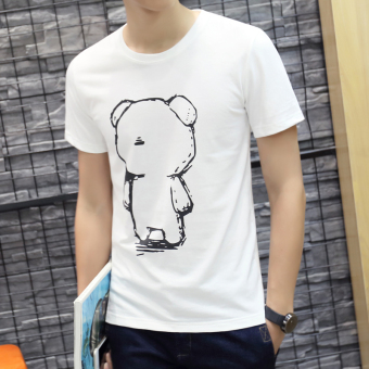 Harga Cotton round neck Slim fit young Top