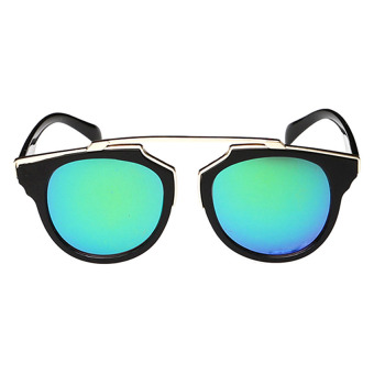 Moonar Fashion Vintage UV Protection Colorful Reflective Film Sunglasses (1#)