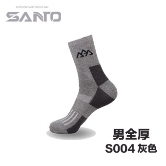 Harga SANTO socks men and women casual hiking mountaineering socks moisture wicking quick-drying breathable wear and warm sports socks (04 male gray full thickness)