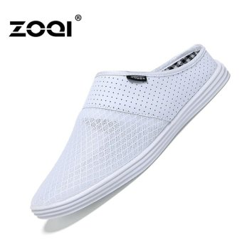 Harga Slip-Ons & Loafers ZOQI Men's Fashion Casual Shoes(White) - intl