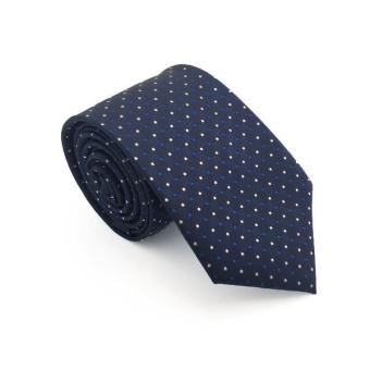Navy Blue and White Polka Dot Tie - Lewis