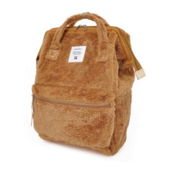 Harga 【Anello】 Authentic Japan Large Backpack - Polar Bear Alike Fur - Khaki