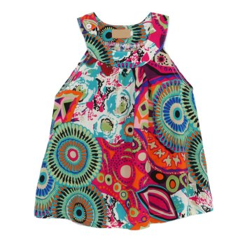 Harga Girls Sleeveless Floral Korean Dress