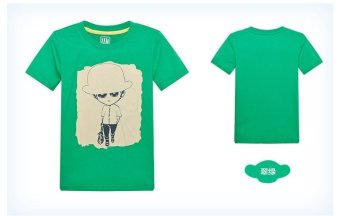 Boys T-shirt Summer Kids T-shirts Boy T-shirts Children Tees Size Children Clothing Fashion Boys Print Child Shirts (Green) - intl