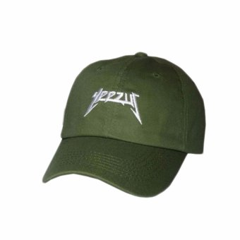 Harga Hequ new chic Yeezus Baseball Cap Hat Yeezy Tour Embroidered Dad Cap Green - intl