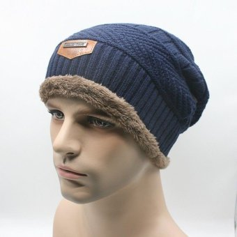 Unisex Men's Women's Knit Wool Baggy Cap Winter Warm Hip-hop Beanie Crochet Hat - intl