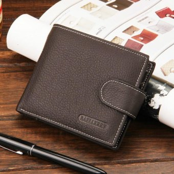 Harga Baellerry New 2017 Leather Men Wallets 100% Genuine Leather Wallets For Men Short Coin Purse With Pocket Male Card Holder - intl