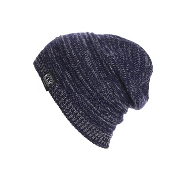 Harga Winter Knitted Warm Unisex Hat Ski Crochet Slouchy Hip Hop Hats(Navy)6B52D - Intl