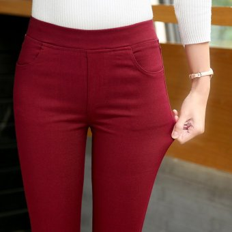 2017 summer ladies outer wear tight feet pant sexy trouser