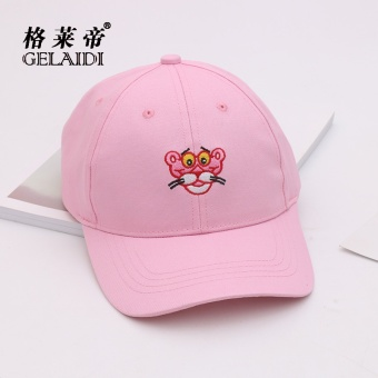 Harga Hat female summer sweet cute Tiger Head baseball cap men wild casual student couple Benn cap SUN cap (Pink)