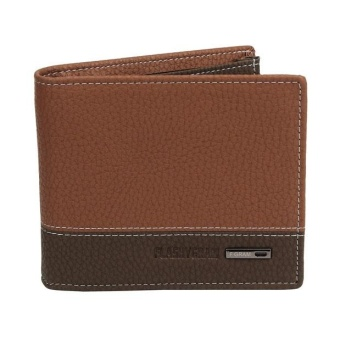 Harga Mens Leather Bifold Money Card Holder Wallet Coin Purse Clutch Pockets - intl
