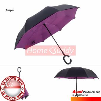 Harga Inverted Umbrella / Reverse Umbrella / Car Umbrella - Purple