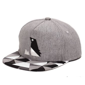 Harga Penguin Pattern Hip-hop Cap Unisex Adjustable Buckle Baseball Cap Linen (EXPORT) - INTL
