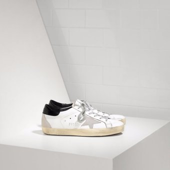 Harga Golden Goose DB Women superstar sneakers in pelle stella in camosico with white and black - intl