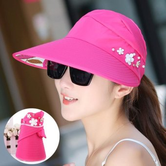Harga Ten-Stellar 2017 new Korean summer ladies hat, anti-UV folding cap, cycling sun hat, women's sunscreen shade - intl