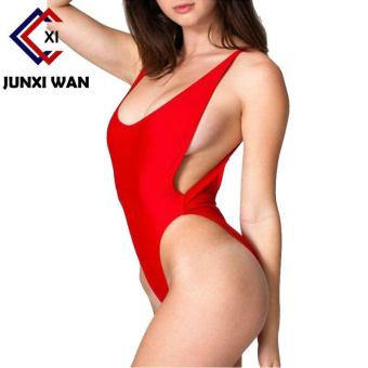 Sexy One Piece Swimsuit Backless Swimwear Women Bathing Suit Swimming Suit for Women Bodysuit Beach Wear Bikini Red - intl
