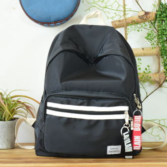 POY2017 new Korean simple Oxford Cloth shoulder bag female version of literary small fresh backpack college students school bags (Black)