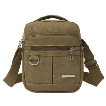 Fashion Canvas Men Shoulder Bag High Quality Crossbody Bag Handbag Backpack - intl