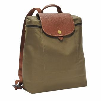 Harga Longchamp Khaki Le Pliage Backpack