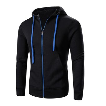 Harga en Fleece Hooded Pullover Zipper Tops Gy Sweatshirt