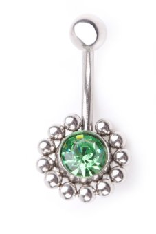 Harga Round Ball Navel Belly Button Ring Body Piercing Jewelry Green