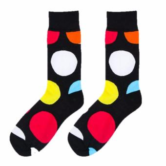 Harga T92 Funky Dots Gentlemen Mens Socks (Adult)