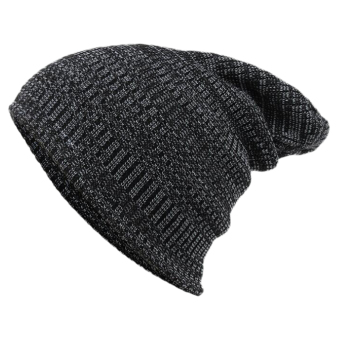 Harga Useful Men's Women Cap Hip-Hop Knit Ski Hat Beanie Winter Warm Knitted Wool Solid Color 0904 - intl