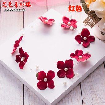 Yi Mandi Bride Wedding Jewelry Headdress Flower Head Handmade Bridal Hair Accessories