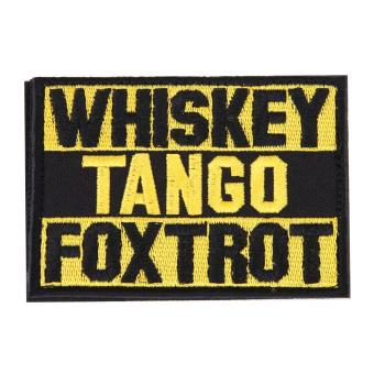 Harga Whiskey Tango Foxtrot Patch Tactical Funny Hook Loop Embroidered Morale(Yellow) - intl