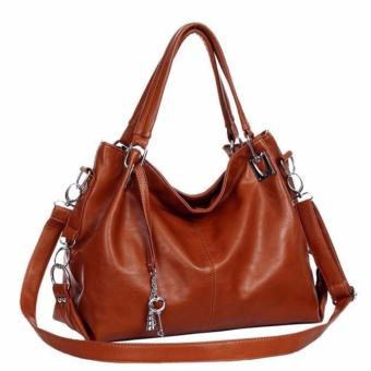 Harga AX Styles 2017 -04 Trendy Fashionable Shoulder Lady Bag – H03BA011(BROWN)