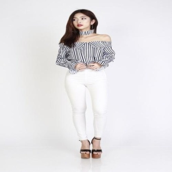 Harga Sarelyn Stripes Choker Top