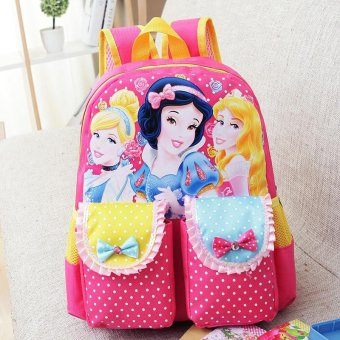 Harga Top Quality 2017 New Cute Sofia Girl Schoolbag Cartoon Princess Children School Bags For Girls Baby School Backpacks - intl