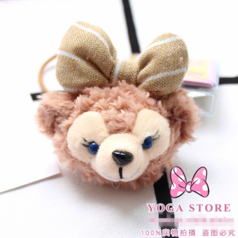 Harga New Duffy the Disney bear Duffy Shirley rose shelliemay cute cartoon hair rope tousheng hair tie ponytail (Green rose)