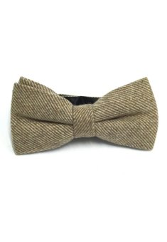 Harga Dolly Series Light Purple Patterned Wool Pre-tied Bow Tie