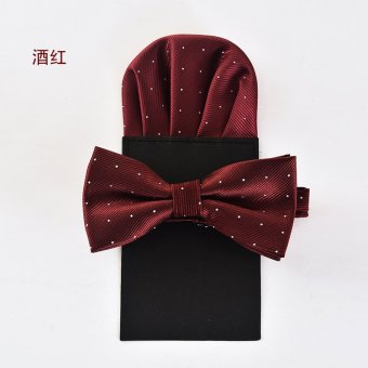 Harga Good tie british men's suit suit pocket towel bow tie the groom married wedding gift box