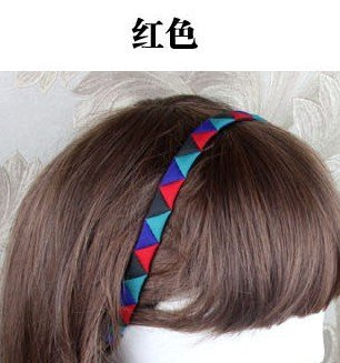 Harga National Wind female hit color retro hair band