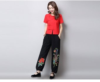 Harga National Wind Linen spring New style long pants