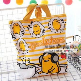 Harga Wholesale cute cartoon melody lazy egg canvas bag shoulder bag female bag portable small bag lunch box lunch bag (Couch potato large egg)