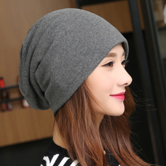 Harga NZTK hat female korean version of the spring and autumn maternity set of head cap baotou cap female cap casual cap wild pregnant women thin section month (Gray)