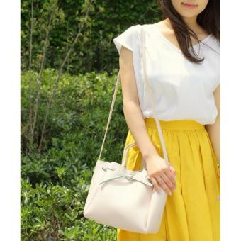 Harga Samantha Thavasa x COLORS by Jennifer sky Shoulder bag Sling Bag Medium size with Sling (Cream color)