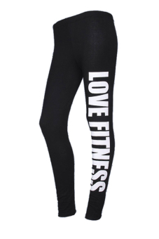 OEM 1678 Womens YOGA Running Sport Pants High Waist Cropped Leggings Black (EXPORT)