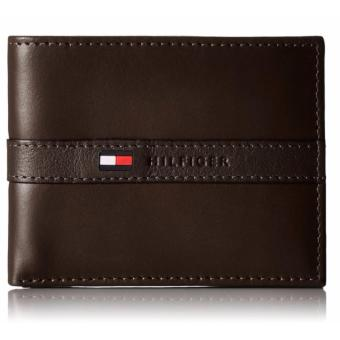 Harga Tommy Hilfiger Men's Ranger Leather Passcase Wallet with Removable Card Case(brown) - intl