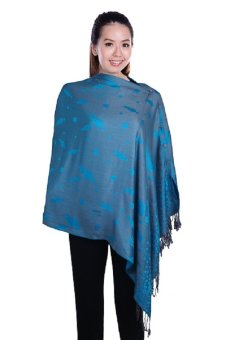 Harga Nursing Breastfeeding Wrap / Cover / Shawl / Poncho - Sienna Turquoise